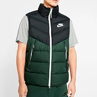 Colete Nike Sportswear Down Vest Masculino - Preto+verde
