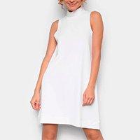 Vestido Avanzi Curto Gola Alta Básico - Off White