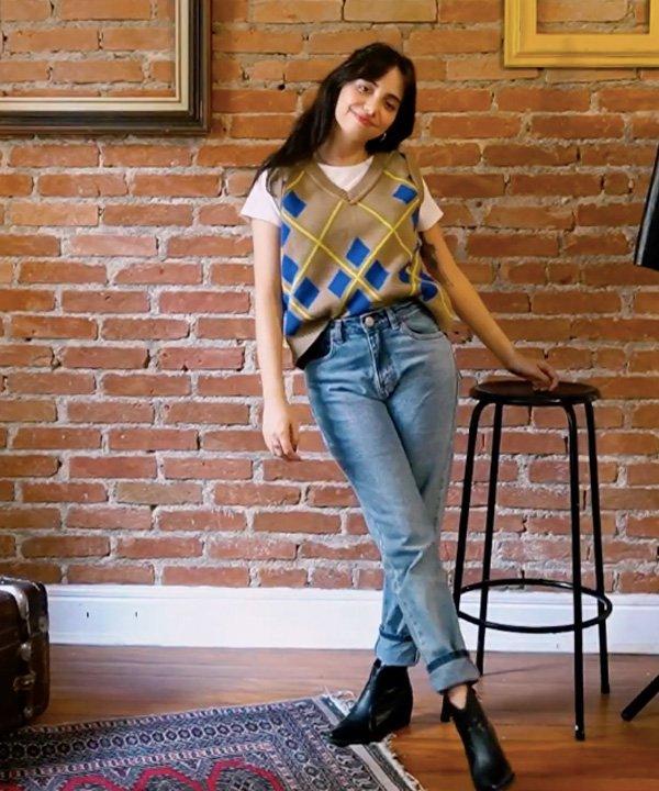Giovana Marçon - looks com calça jeans - looks com calça jeans - outono - street style - https://stealthelook.com.br