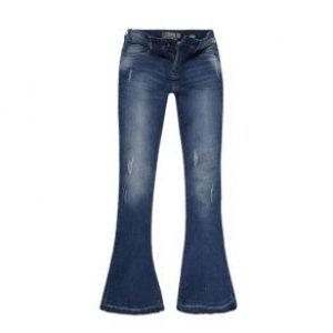 Calça Jeans Flare Feminina Barra Recortada Used Leve Tamanho 36