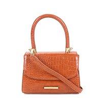 Bolsa Santa Lolla Handbag Croco Alto Brilho - Caramelo