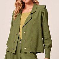 camisa detalhe ombreira mob verde