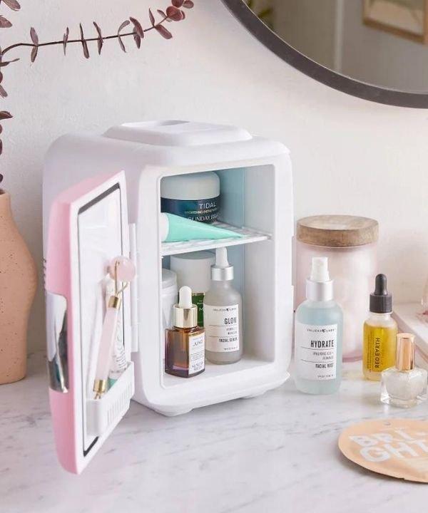 geladeira de skincare  - skincare  - beauty tech - cuidados com a pele  - tecnologia  - https://stealthelook.com.br