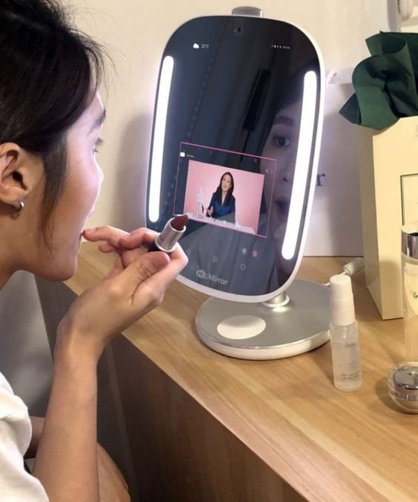 espelho inteligente  - hi mirror  - beauty tech  - maquiagem  - closet  - https://stealthelook.com.br