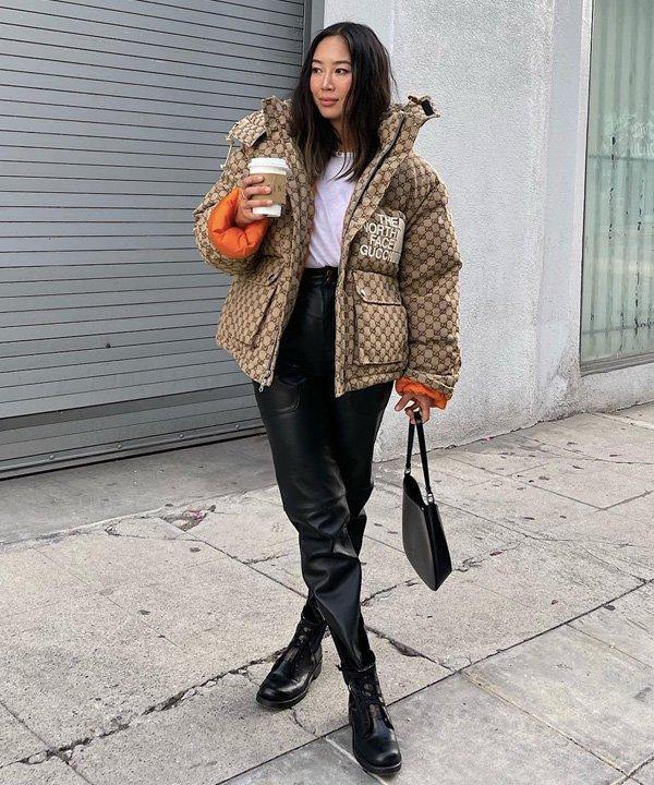 Aimee Song - jaquetas puffer - jaquetas acolchoadas - outono - street style - https://stealthelook.com.br