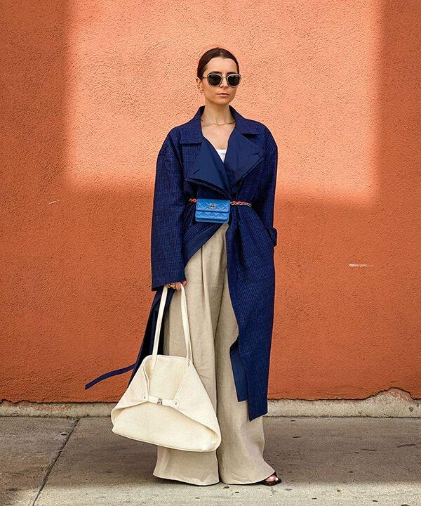Edward Berthelot - calça de linho, max bolsa e jaqueta azul - calça de linho - outono - brasil - https://stealthelook.com.br