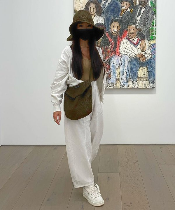 Tam - calça de linho e bucket hat - calça de linho - outono - brasil - https://stealthelook.com.br
