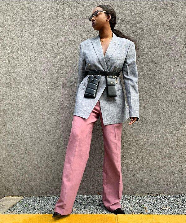 Diane Kuevi-Beku - calça de linho rosa - calça de linho - outono - brasil - https://stealthelook.com.br