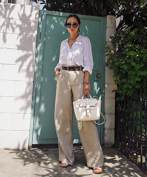 Song Of Style - calça de linho e camisa branca - calça de linho - outono - brasil - https://stealthelook.com.br