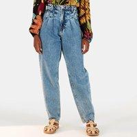 calça oval pregas refarm jeans