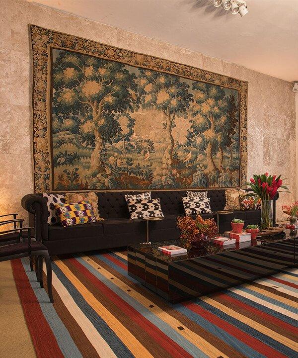 Tapeçaria Aubusson - tapeçaria na parede - decoração com tapeçaria - inverno - brasil - https://stealthelook.com.br