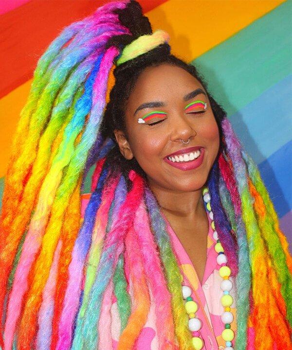 Paloma Barbiezinha  - dreadslocks coloridos - dreadslocks - outono - brasil - https://stealthelook.com.br