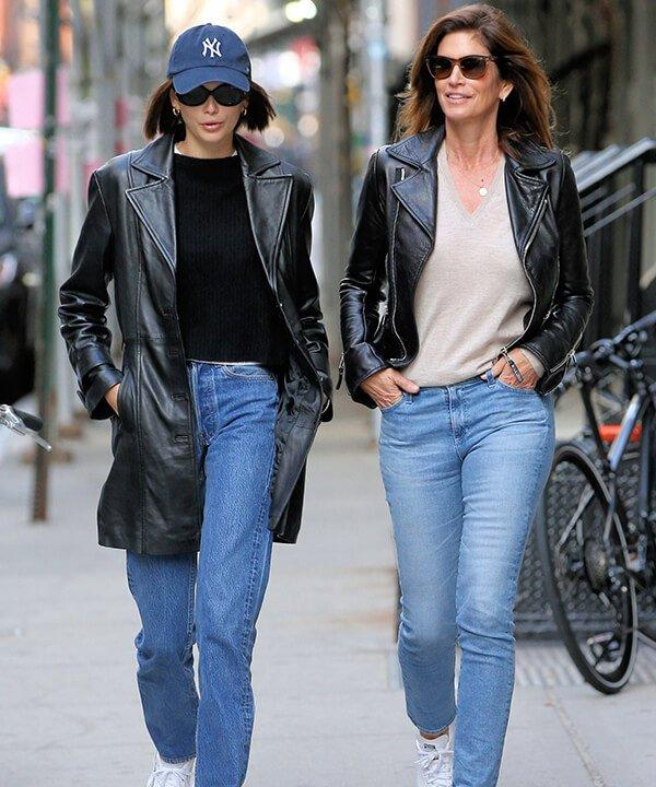 Kaia Gerber e Cindy Crawford - wide legs sobretudo - famílias estilosas - outono - brasil - https://stealthelook.com.br