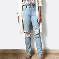 calca boyfriend refarm jeans