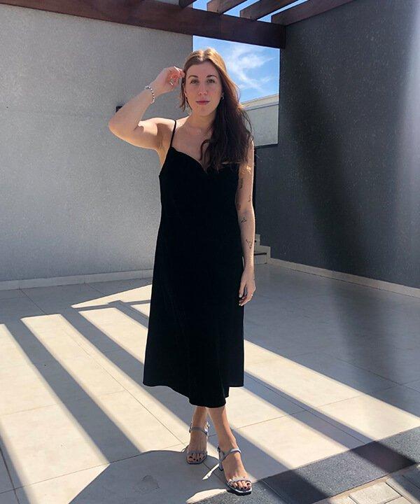 Giulia Coronato - Vestido de veludo - final do bbb - outono - brasil - https://stealthelook.com.br