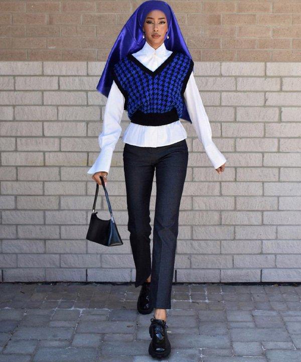 Hodan Yousuf - colete de tricô - colete de tricot - outono - street style - https://stealthelook.com.br