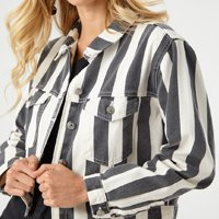 jaqueta listras zinzane preto e branco