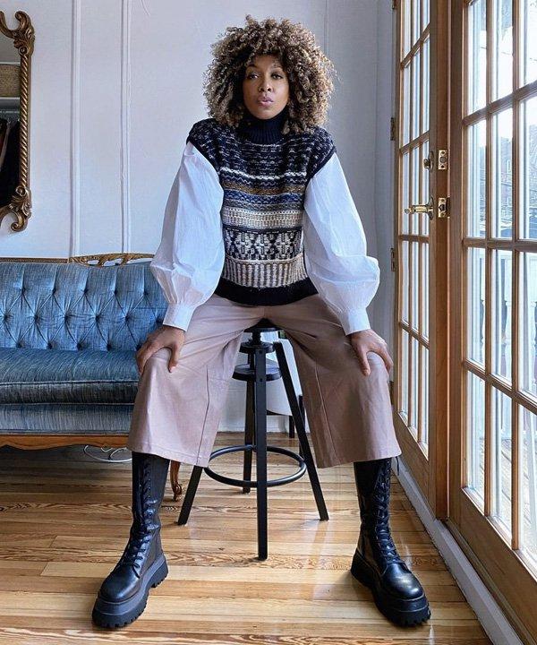 Blanchard - colete de tricô - colete de tricot - outono - street style - https://stealthelook.com.br