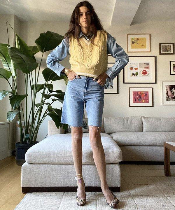 Leandra Medine - colete de tricô - colete de tricot - outono - street style - https://stealthelook.com.br