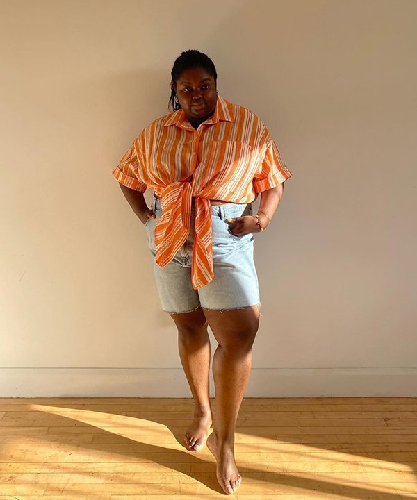 Abisola Omole - bermuda jeans - looks de inverno - outono - brasil - https://stealthelook.com.br
