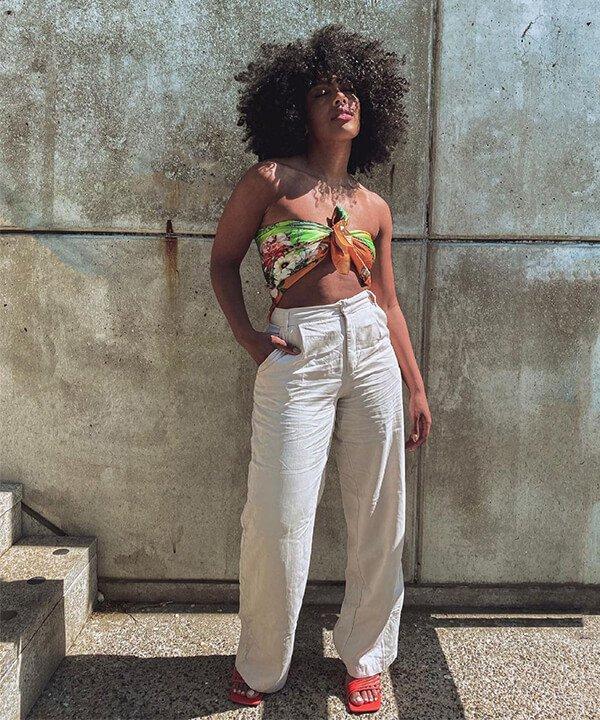Angela Onuoha - calça de linho  - looks de inverno - inverno - brasil - https://stealthelook.com.br