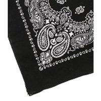 Lenço AHA algodão estilo bandana preta estampa em branco Feminino - Preto