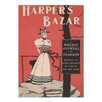 Quadro Vintage Harper\'s Bazar Poster Decoração Sala Quarto