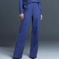 Calça Pantalona Malha Indigo Estone Feminina - Azul