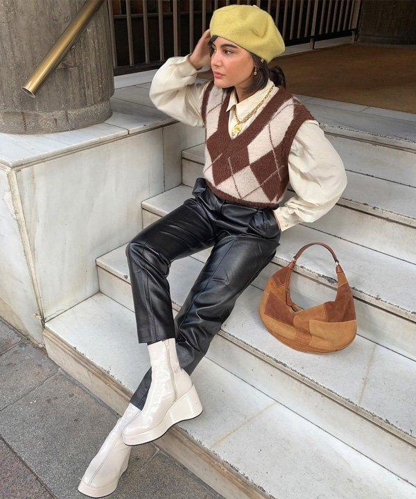 María Bernad - colete de tricô - colete de tricot - outono - street style - https://stealthelook.com.br