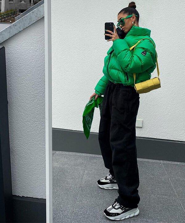 Kim Duong  - casaco pluff verde - moda sem gênero - outono - brasil - https://stealthelook.com.br