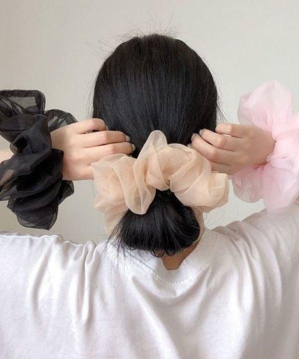 Scruchie - Acessórios de cabelo - Penteados Fáceis - Outono - Natureza - https://stealthelook.com.br