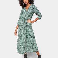 Vestido Marialicia Midi Longo Cachecouer - Verde