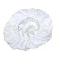 Touca De Cetim Seda Branco Anti Frizz Para Dormir