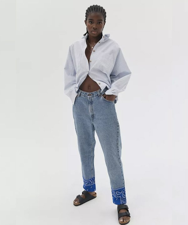 Urban Outfitters - diy com jeans - patchwork - outono - street style - https://stealthelook.com.br