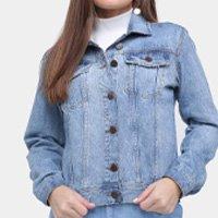 Jaqueta Jeans Ex Adverso Básica Feminina - Azul Claro