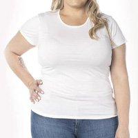Camiseta Cora Básico Decote Redondo Modal Feminina - Branco
