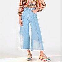 calça pantacourt recortes refarm jeans