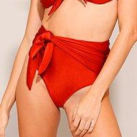 biquíni calcinha hot pant com faixa para amarrar e proteção uv50+ cobre