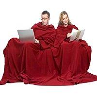 Cobertor com Mangas Casal - Vermelho - 1,90m x 3,00 m - Dryas