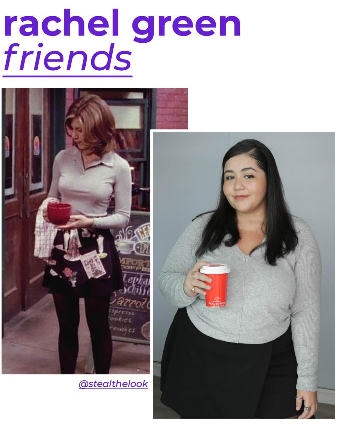 Rachel Green, Layla Brígido - looks de personagens - friends - outono - street style - https://stealthelook.com.br