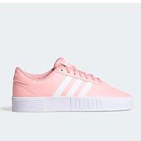 Tênis Adidas Court Bold Feminino - Rosa+Branco