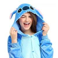 Lilo Stitch Fantasia Pijama Kigurumi Macacão Roupa Infantil Adulto Anime Cosplay Desenho Filme - Kigurama