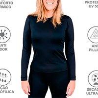Blusa Térmica Feminina Frio Intenso Viagem Moto Esqui Aventura Esportes - Roupas Térmicas