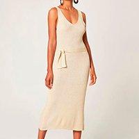 Vestido Mídi Em Tricô Malwee Feminino - Branco
