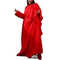 Cobertor c/ Mangas Vermelho Liso 1,60 X 1,30m - Zona Criativa