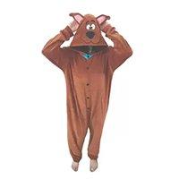 Scooby Doo Fantasia Pijama Kigurumi Macacão Roupa Infantil Adulto Desenho Anime Cosplay - Kigurama