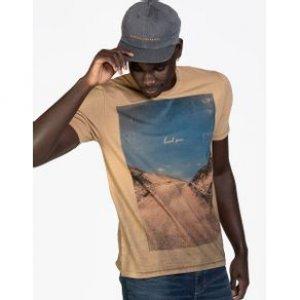 Camiseta Masculina Hard Sun Khaki Tamanho P