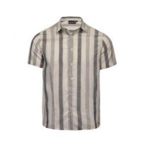 Camisa Masculina Flamê Listrado Vertical Off+Pto Tamanho P