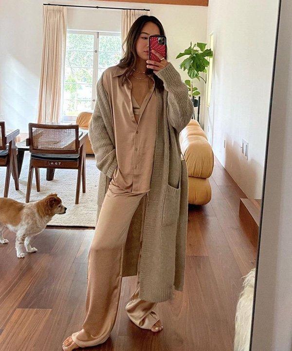 Aimee Song - blusas de tricô - looks de inverno - outono - street style - https://stealthelook.com.br