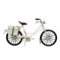 Bicicleta Branca 14.5x29x7.5cm Estilo Retrô - Vintage - Taimes